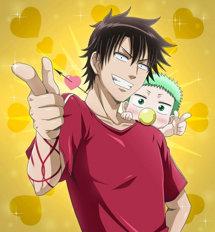 *Later that day Oga and Beelzebub went out to the bakery for some sweets. Baby Beel was squirming as
