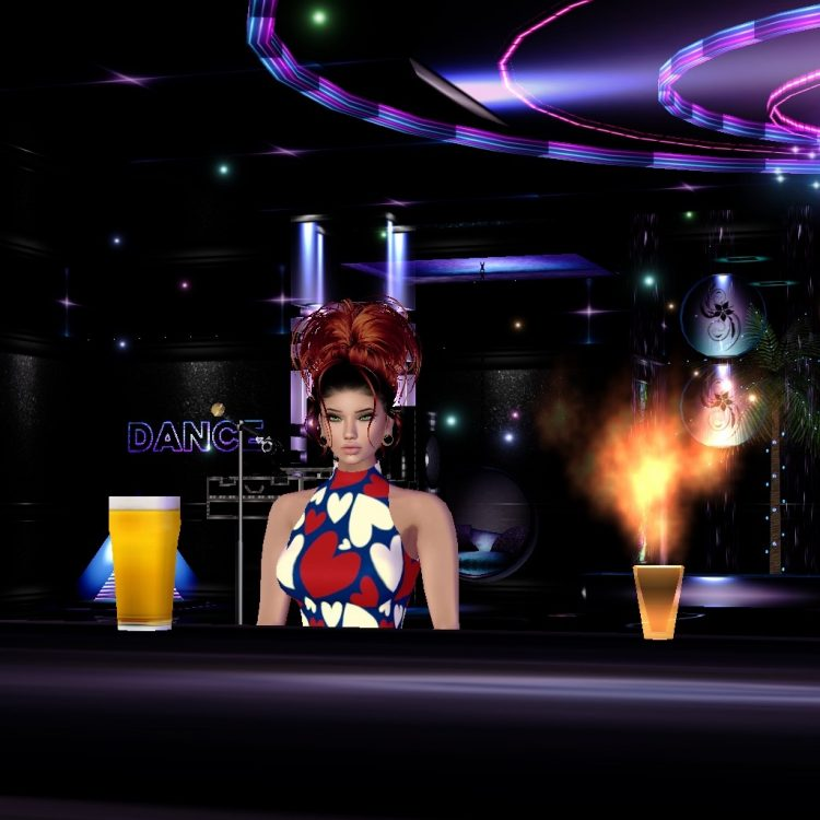 *Is at the bar ordering her drink but she's definitely eyeing the fiery drink* Hmmm…I wonder