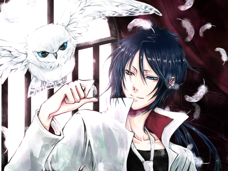 *Heads to the shelter with his pet owl to tend to the beautiful variety of animals there that are be