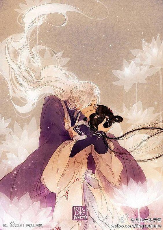 @shiroyassha @sweetsugardemon helenaandginIbuki Satsuki kiss