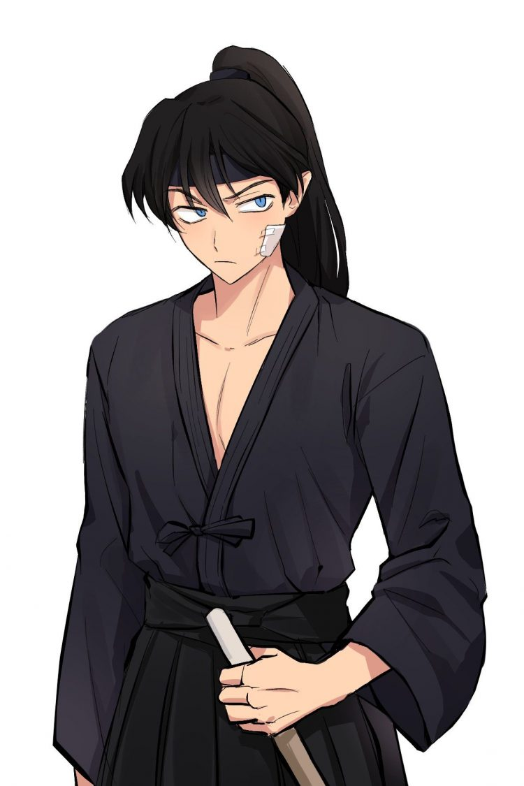 *Before heading out to party, he indulged his brother Ranma and went to the dojo to do different kin