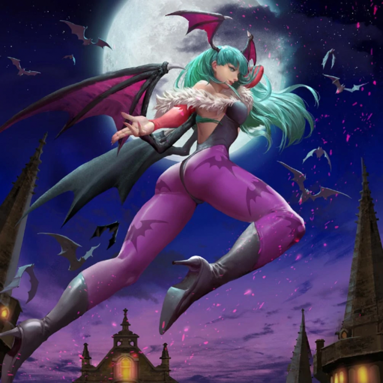 Sinful Birthday Wishes sis Lilith! @sultrysuccubussugarfiend morrigan-darkstalkers-capcom-teppen-art
