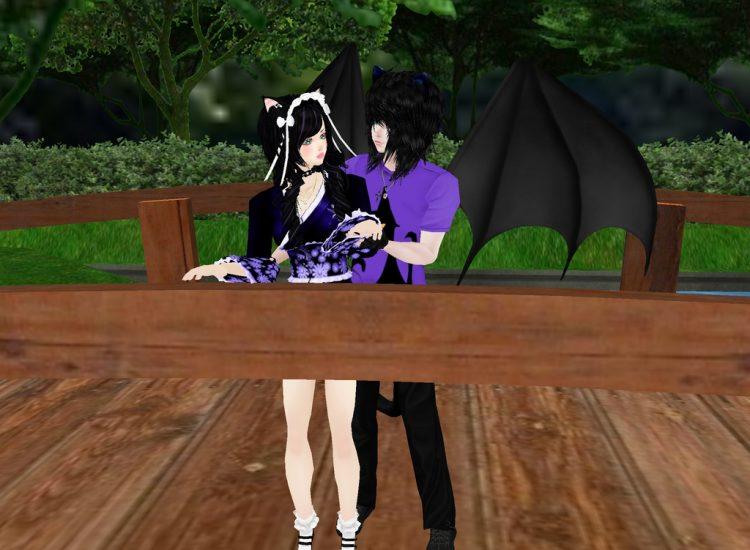 *Earlier Cindy and Daniel were enjoying a break while in the back yard of the bakery.* @gattonero ci