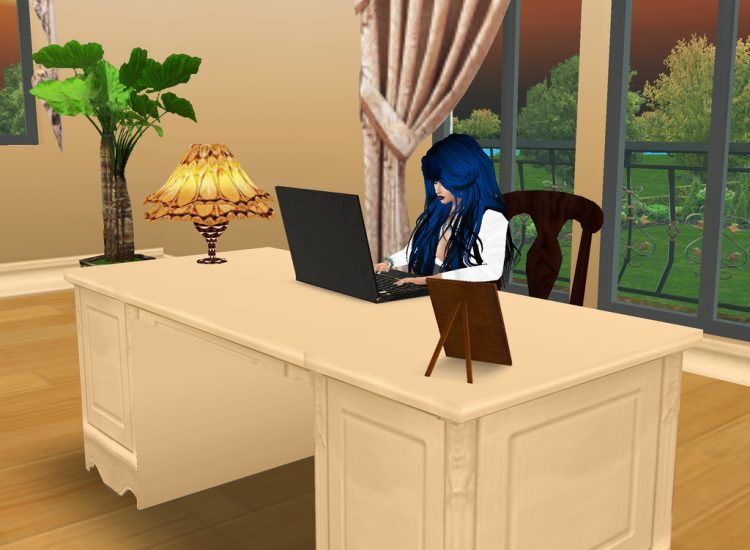 *Working from her home office for a little while since things would be very busy during the month of