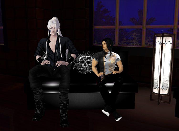 *Having some drinks and lounging around.*. @darkbladeknight sesshyandtaroimvu