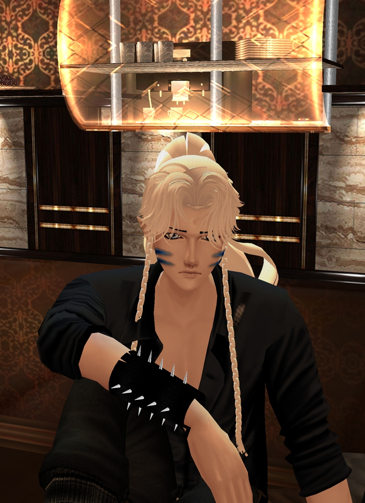 *After getting some work done, he relaxes on the cozy floor of the campus cafe.*sesshyimvucampuscafe