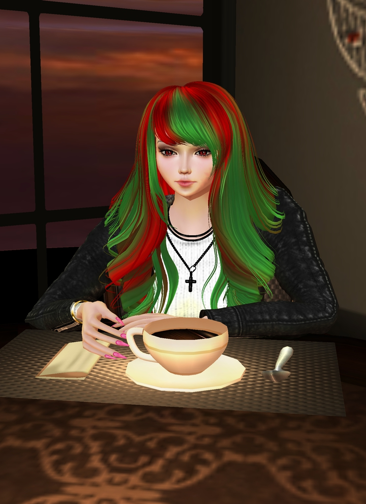 *After gathering plenty of information into her database. She makes sure to get a cup of coffee and