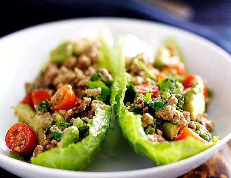 Thai Basil Chicken Lettuce Wraps 694776D7-CB2D-4F5D-906C-53DFE8A2E47B