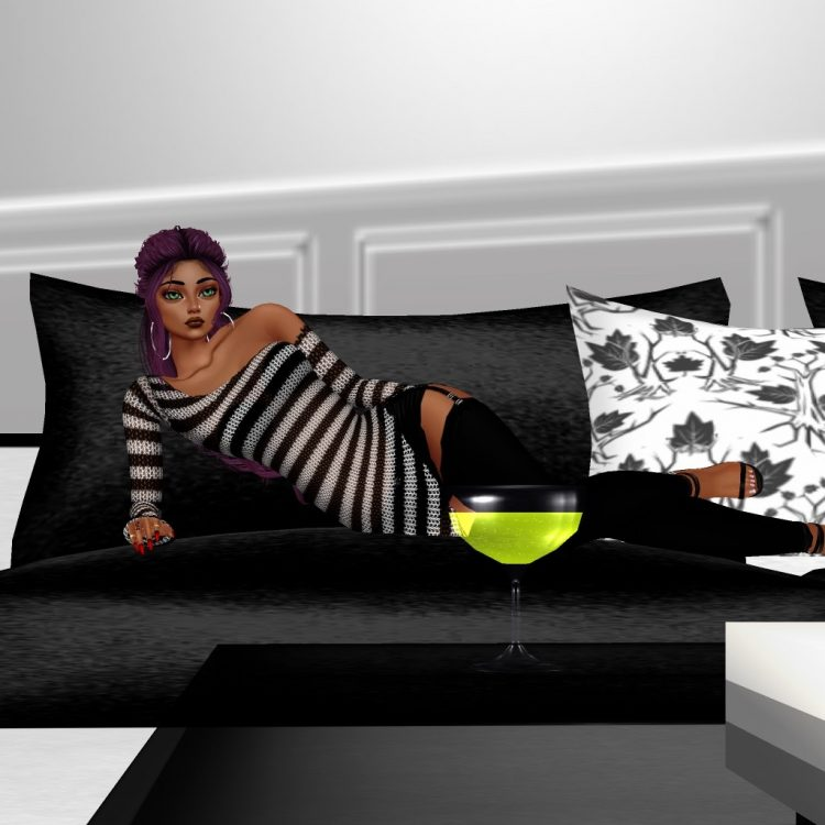 *Sits across Lilith and eyes the delicious apple martini that was served for her* Lilith, you're s