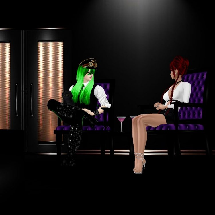 *Jean has a quick meeting with her boss discussing the success of the event and shares some ideas fo