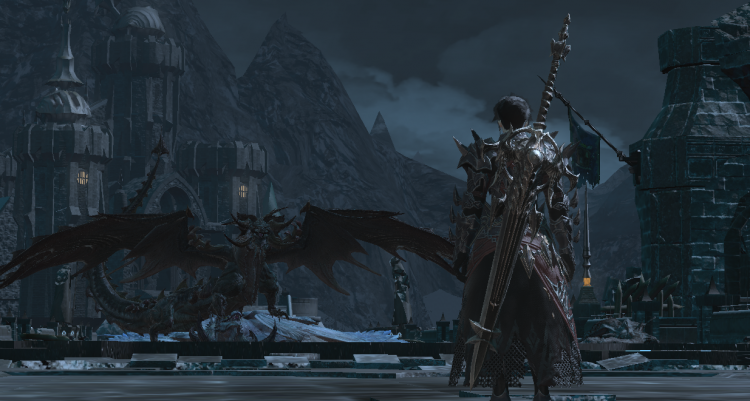 *he is on the quest to hunt dragon* I will turn you into jacket ffxiv_06172021_053115_691