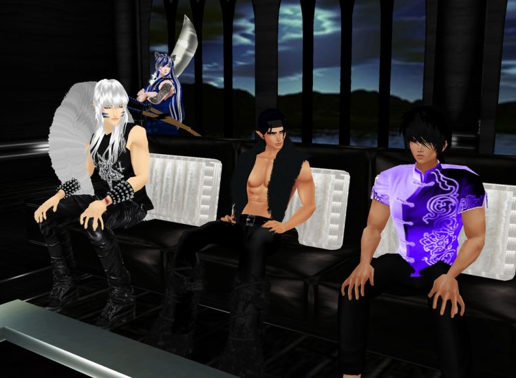 *Hanging out at the taproom for Kiyoshi's birthday party.* @hellhoundinuyassha @lordsugarsessh