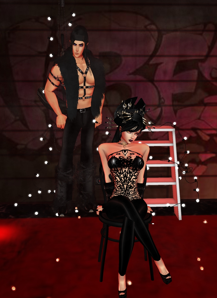 @sweetsugardemon *Koga models with Helena for a few photos but he's really being her bodyguard