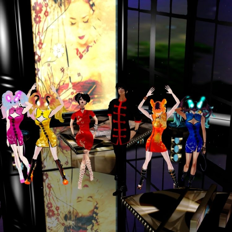 *Inside Sakura Lane's beautiful pavillion/bar.* @leviachan @satodemone @sweetsugardemon @satan