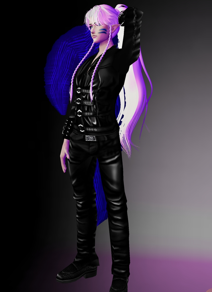 *Sesshy takes on two more rounds of modeling photos before he exits the stage and partakes in being