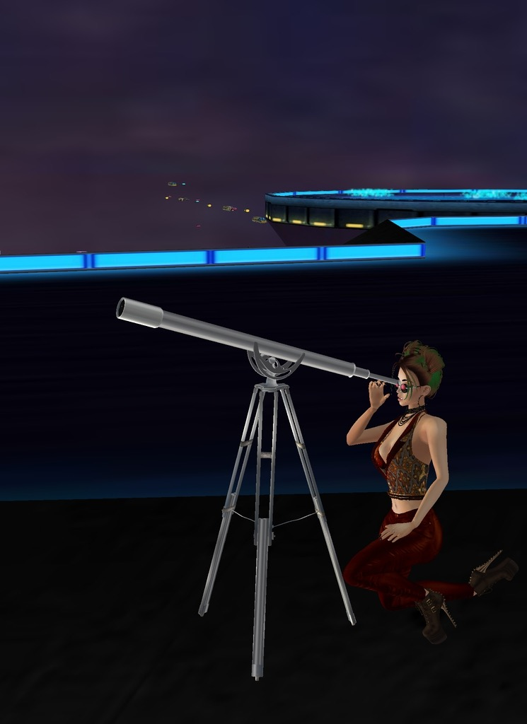 *tries to find the space station via a telescope* Damn thing can't be seen from here! 738DB914-7D4