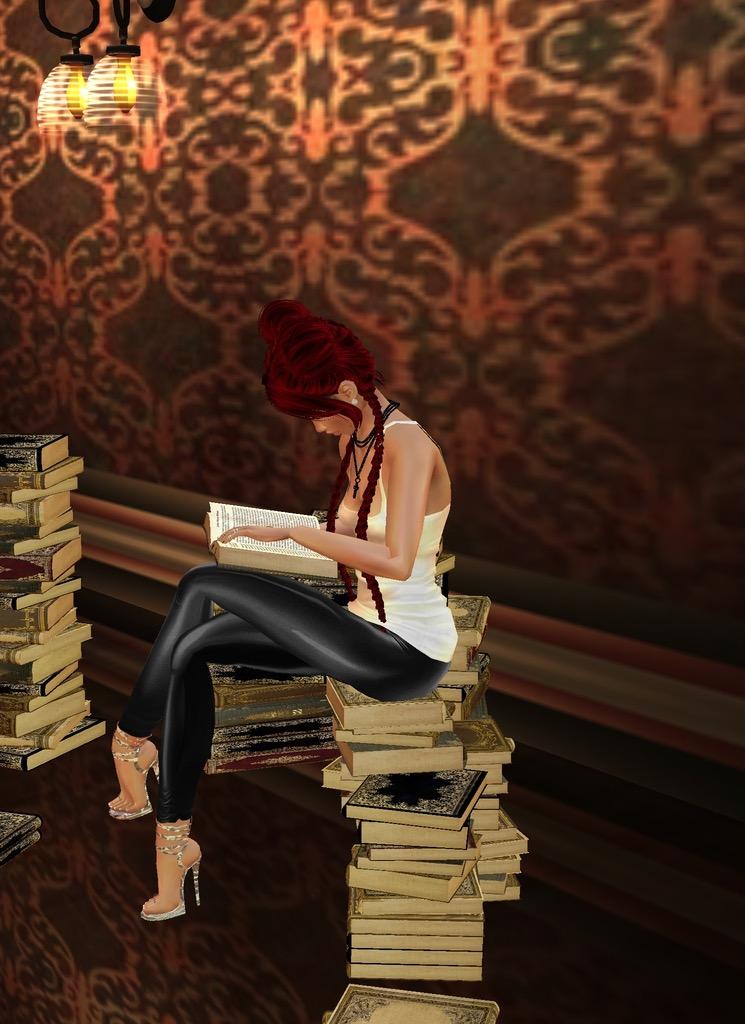 *she later enjoys doing some reading* A8205B6F-B72E-4E7D-B7DC-91A04BE42750
