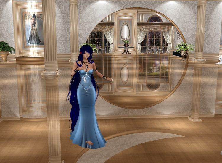 *The ice youkai maiden had come to the Foxflame Ballroom as she whished to see the grandiose of the