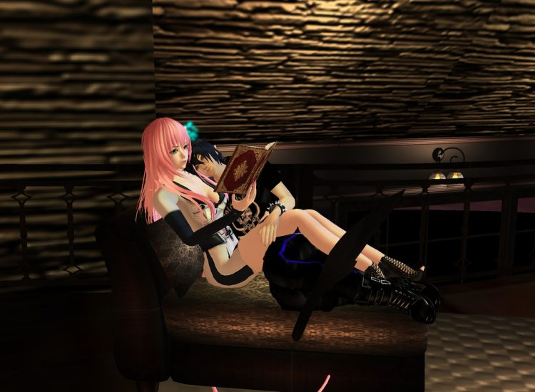 *When Lord Sesshomaru leaves Rintoki and Myuu Lala spend their time going through books alone togeth