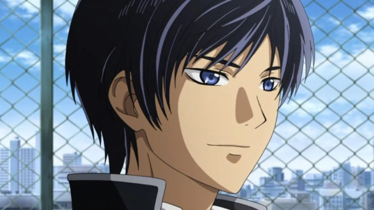 *His father, Rintoki, starteled him bit but then he regained his composure. He knew he was there as