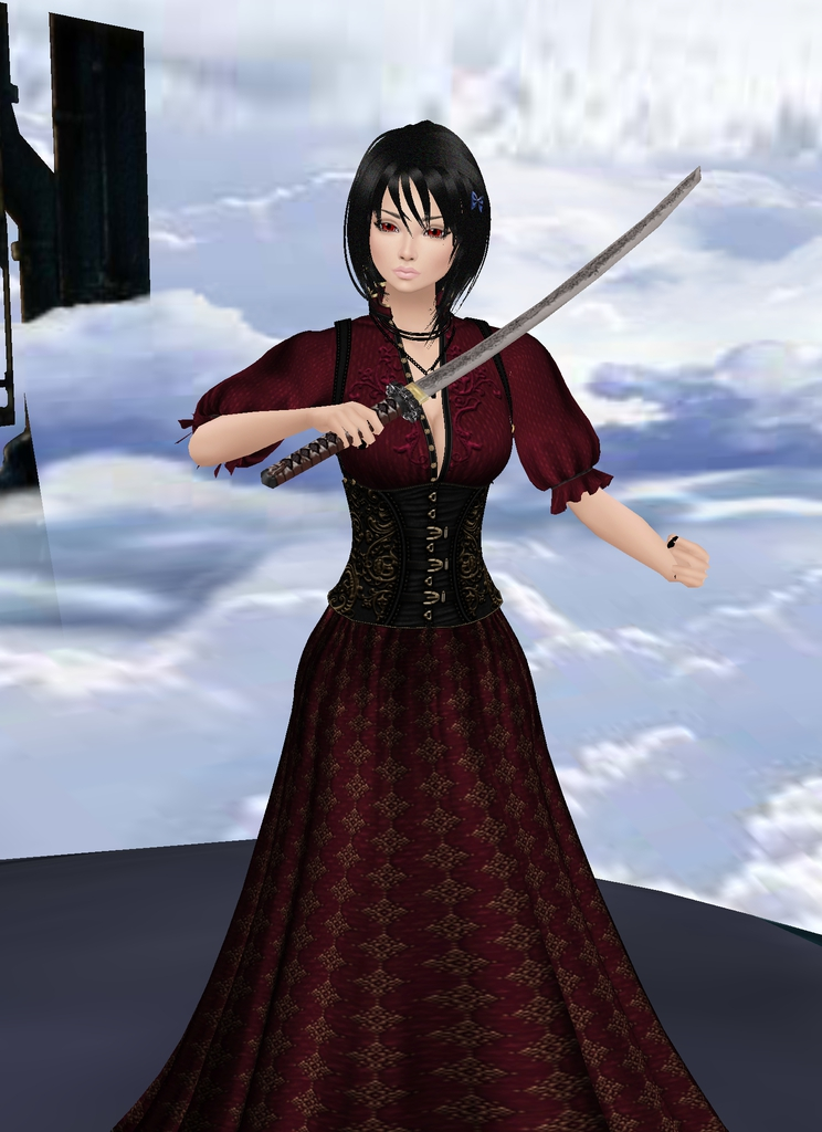 *Saya stops in to visit Space Station Avalon. She cautiously draws her sword but noticing how peacef