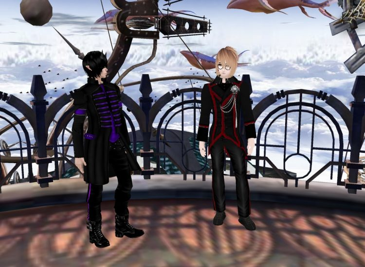 *Shoichi and Izumi make a quick pitstop at Space Station Avalon out of curiosity.* @alchemistvampyrh