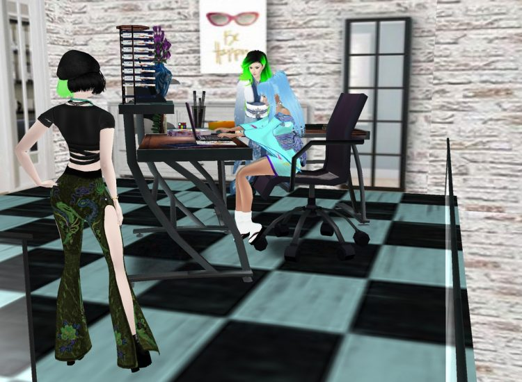 *Both Botan and Yukina help wrap up some administrative related stuff.* tamakibotanyukinadeskminilof