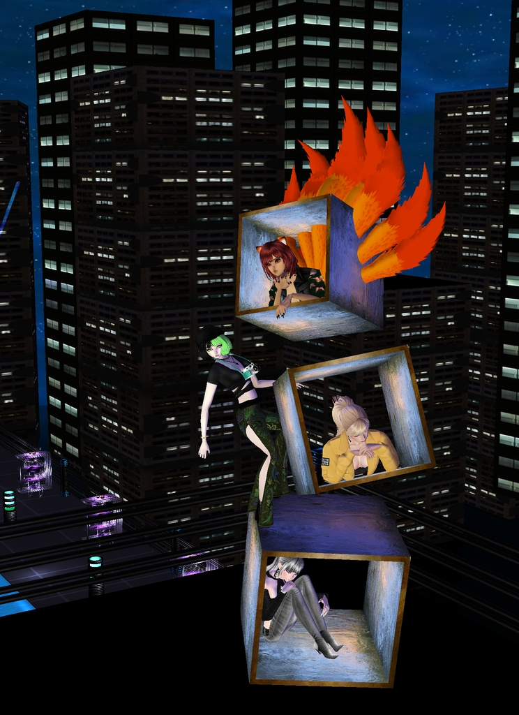 *They come across a strange structure and try it out.* Whoa!! @kandace @candycandyali @tessatestaros