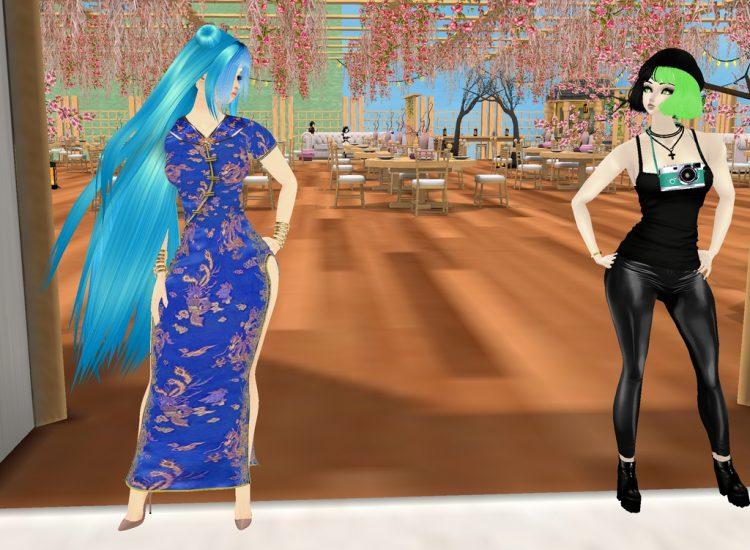 *Modeling at Sakura Lane Park's Pavilion and then gets a photo along with Tamaki.* @tamaki urakaze